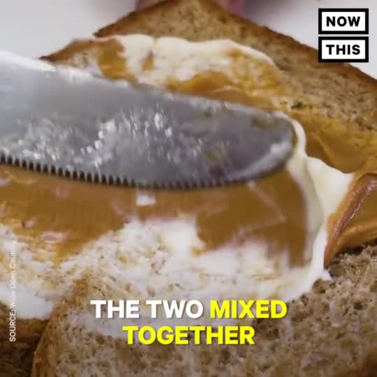 peanut butter and mayo. .. This is the most cursed food I have ever seen. It actually made me feel queasy watching this.