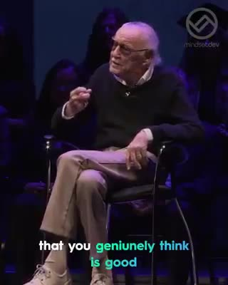 SPIDERS. .. Stan Lee, if he ever hear that you dont believe in yourself!