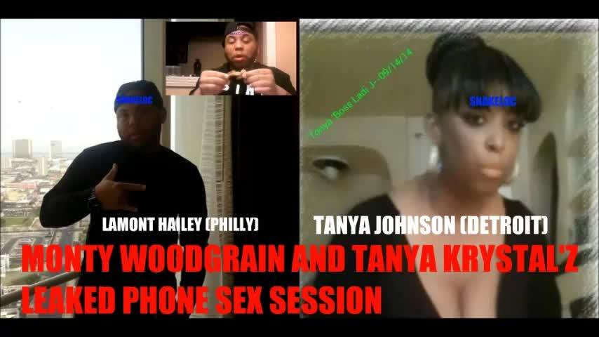 MONTY WOODGRAIN & TANYA JOHNSON PHONESEX. .