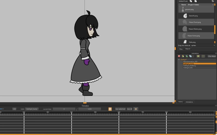 "Basic animation with ""Spriter"". Just testing some basic movement, while using the same elements over and over again... Back to the style of 2006' flash games!"