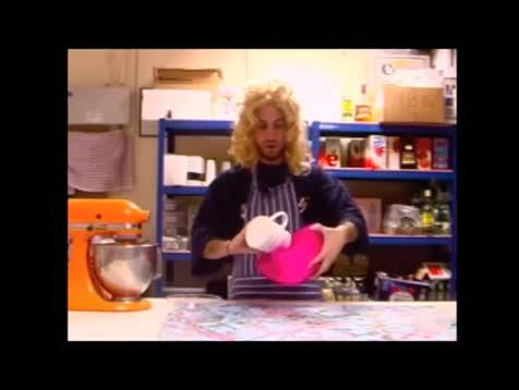 Baking Beats DIY Instruction Video. Source is Beardyman.. My face when he pours in the bass