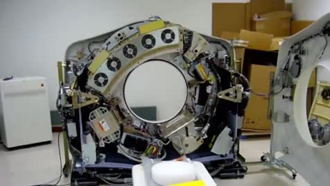 """CT scanner without it covers. .. """"Power to Stage 1 emitters in...3..2..1."""" Comment edited at ."""