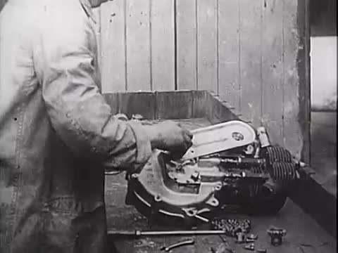 Old Rover Motorbike construction. This is a video showing the construction of a Rover motorcycle some time during the early 20th century. The video does not app