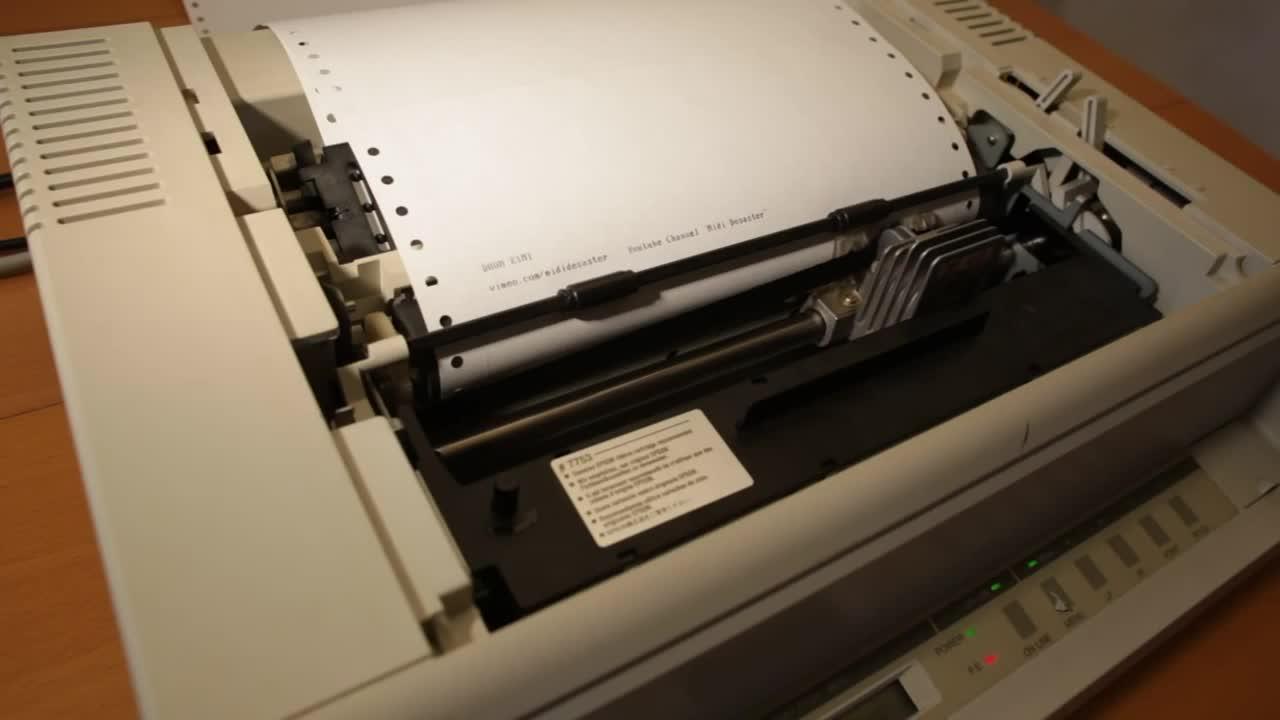 DOOM theme on printer. .