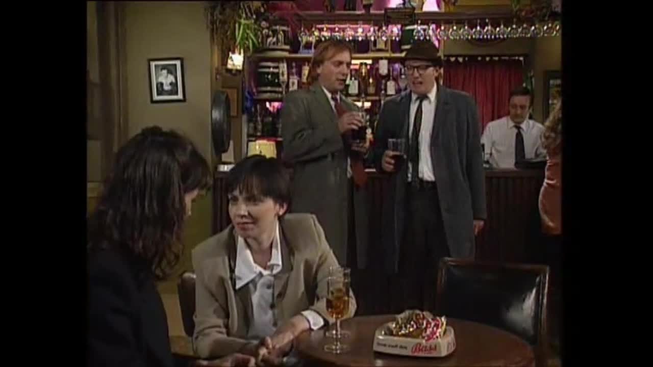 Bottom's up!. TV Show: Bottom Rik Mayall & Adrian Edmonson as Richie and Eddy - just bought their pheromone sex spray and are ready to pull. Happy Saturday