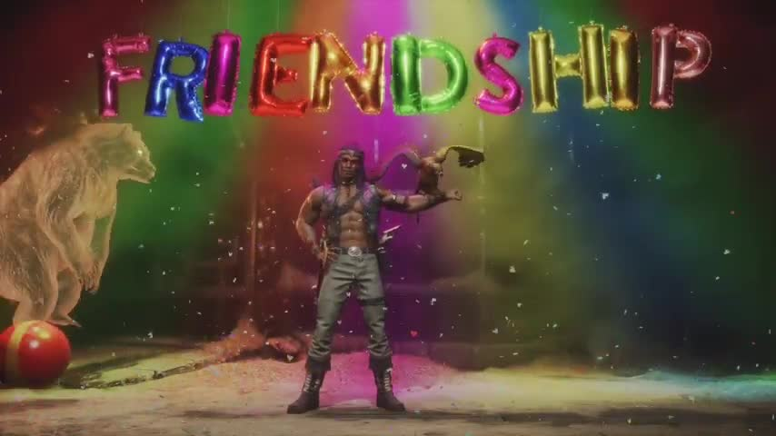 You need this. join list: VideoGameHumor (1705 subs)Mention History.. KID THUNDER IS BACK! Also Jax's friendship should have been a fatality because he is killing it on the saxophone!