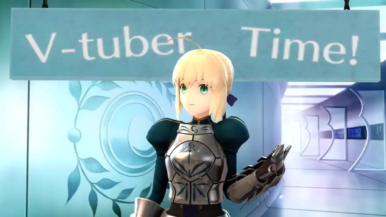 Saber becomes a virtual Youtuber.. The important thing is that she tried... Bit like Kizuna