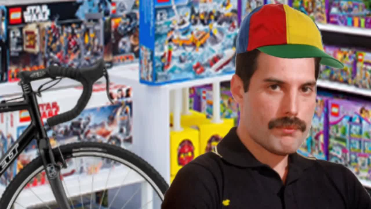 Freddie gets a bicycle. I made a FreddiePosting channel for Freddie Mercury mems.. This one wasnt quite as good