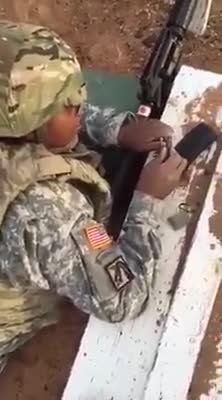 Army reserves. .. Im always confused when people have a hard time with this, these weapons were designed so that literal retards could use them