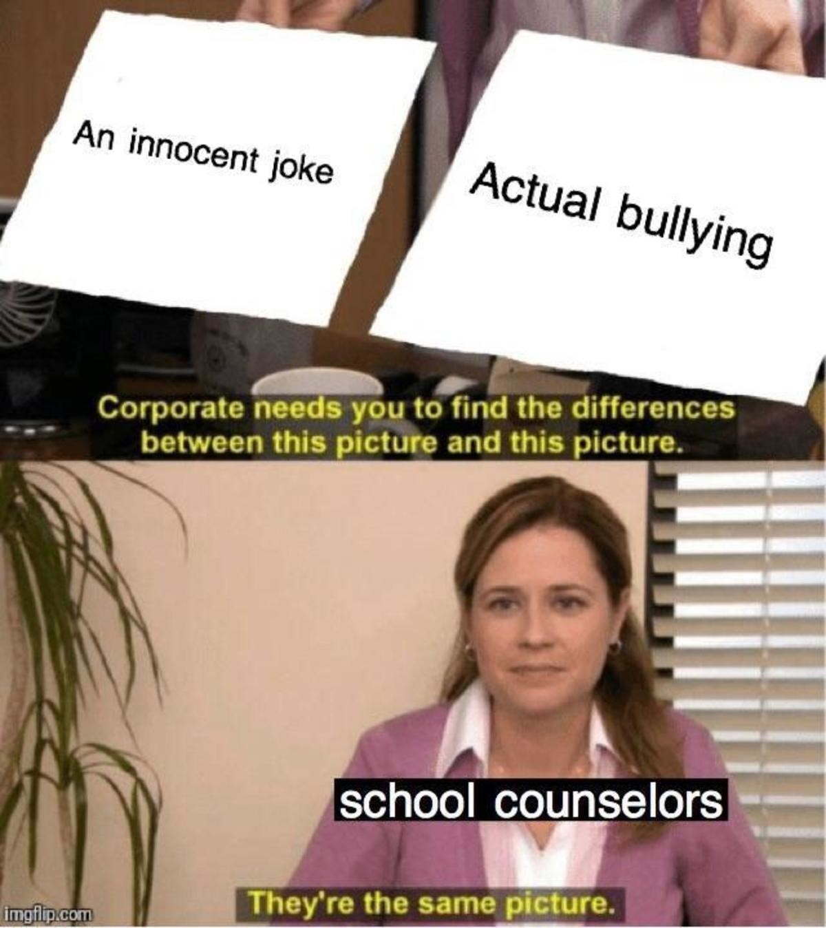 1154. .. >school having a picture of actual bullying