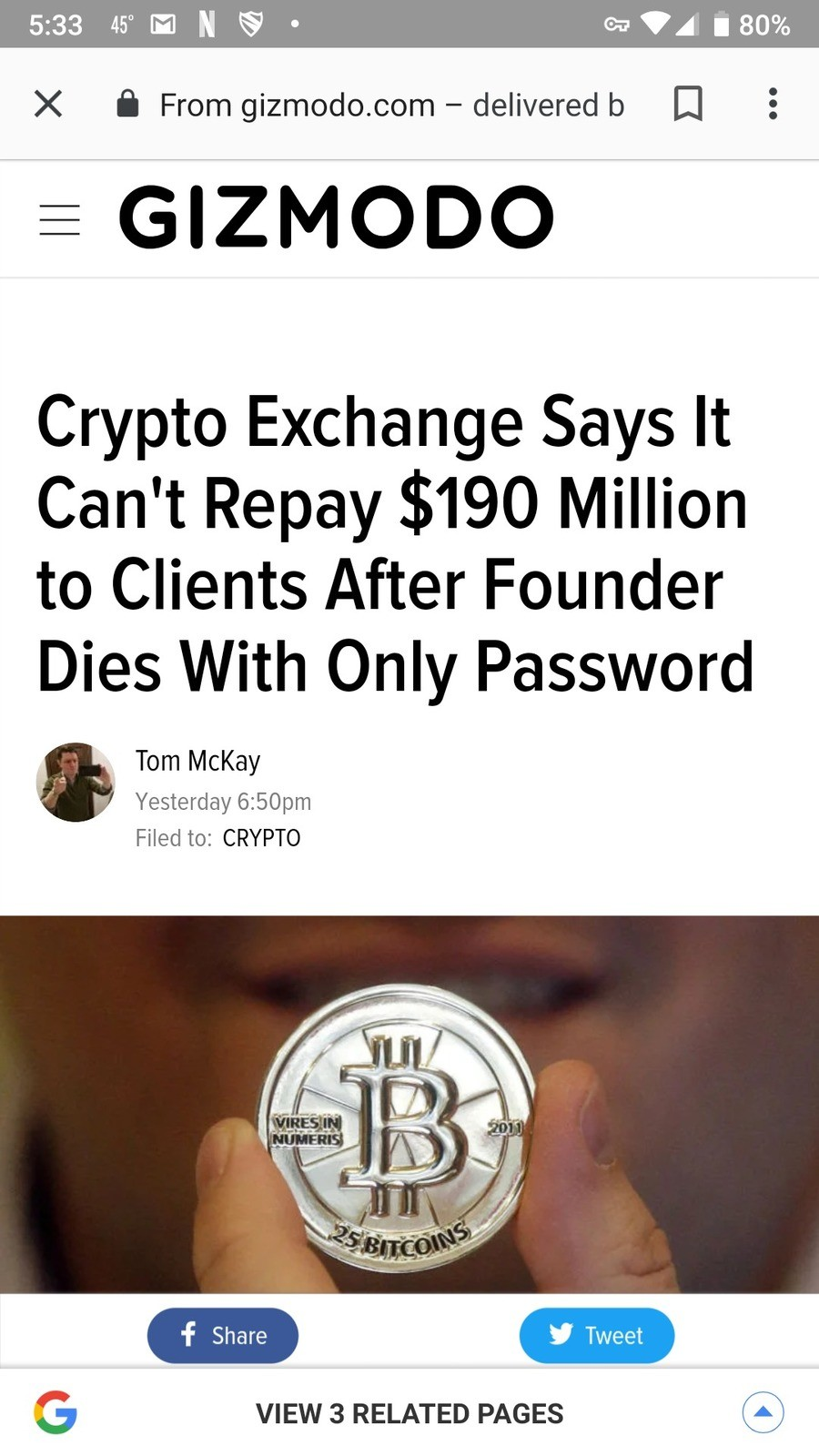 190 million in crypto lost. https://www.ccn.com/190m-gone-how-canada-biggest-bitcoin-exchange-lost-it Tl;dr Locked in cold storage with a password only the owne