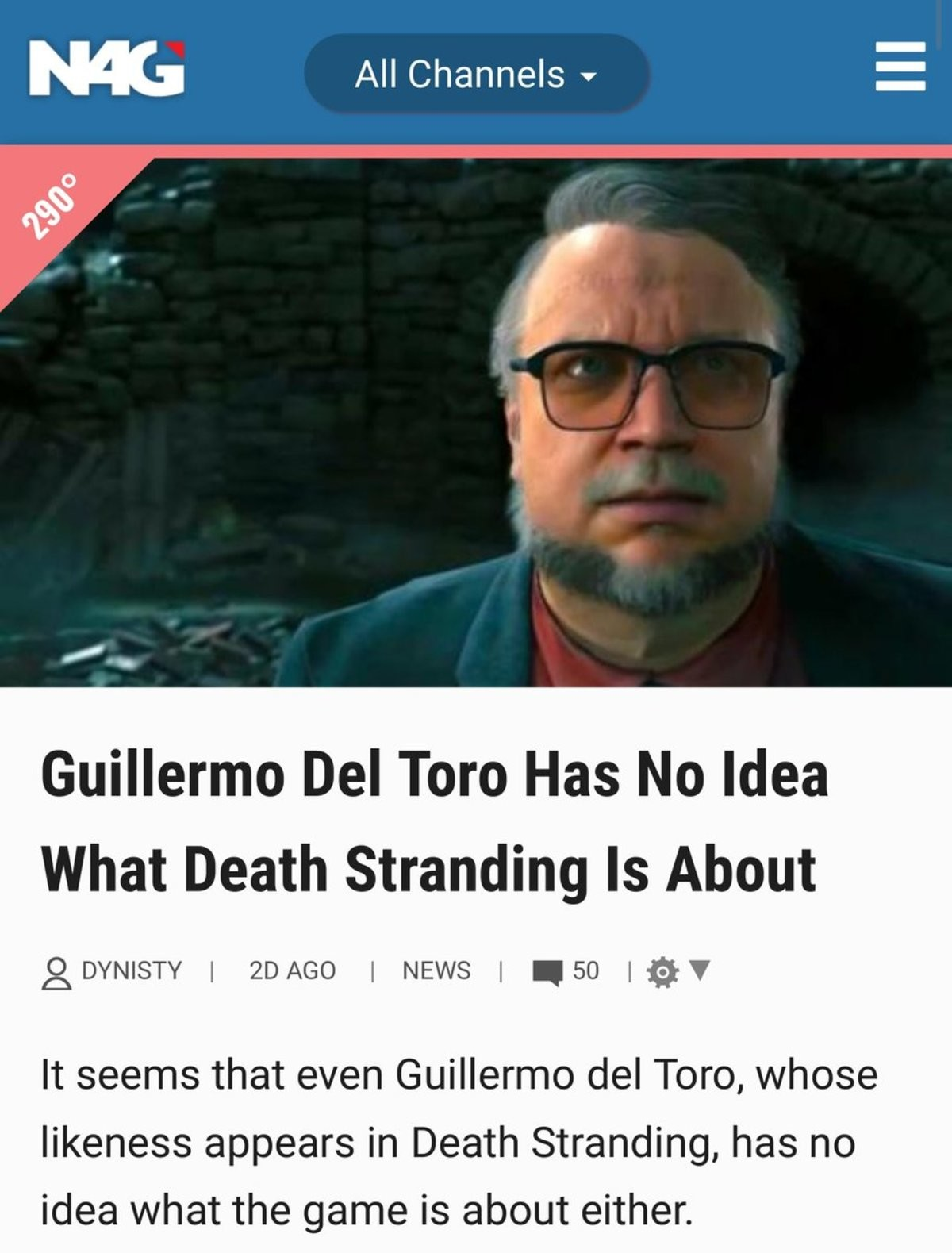 2DEEP4U The Game. To be fair you have to have a high IQ to appreciate Hideo Kojima. All Channels _ Del Tom Has No Tlt! rll What Death stranding (PII About It 'i