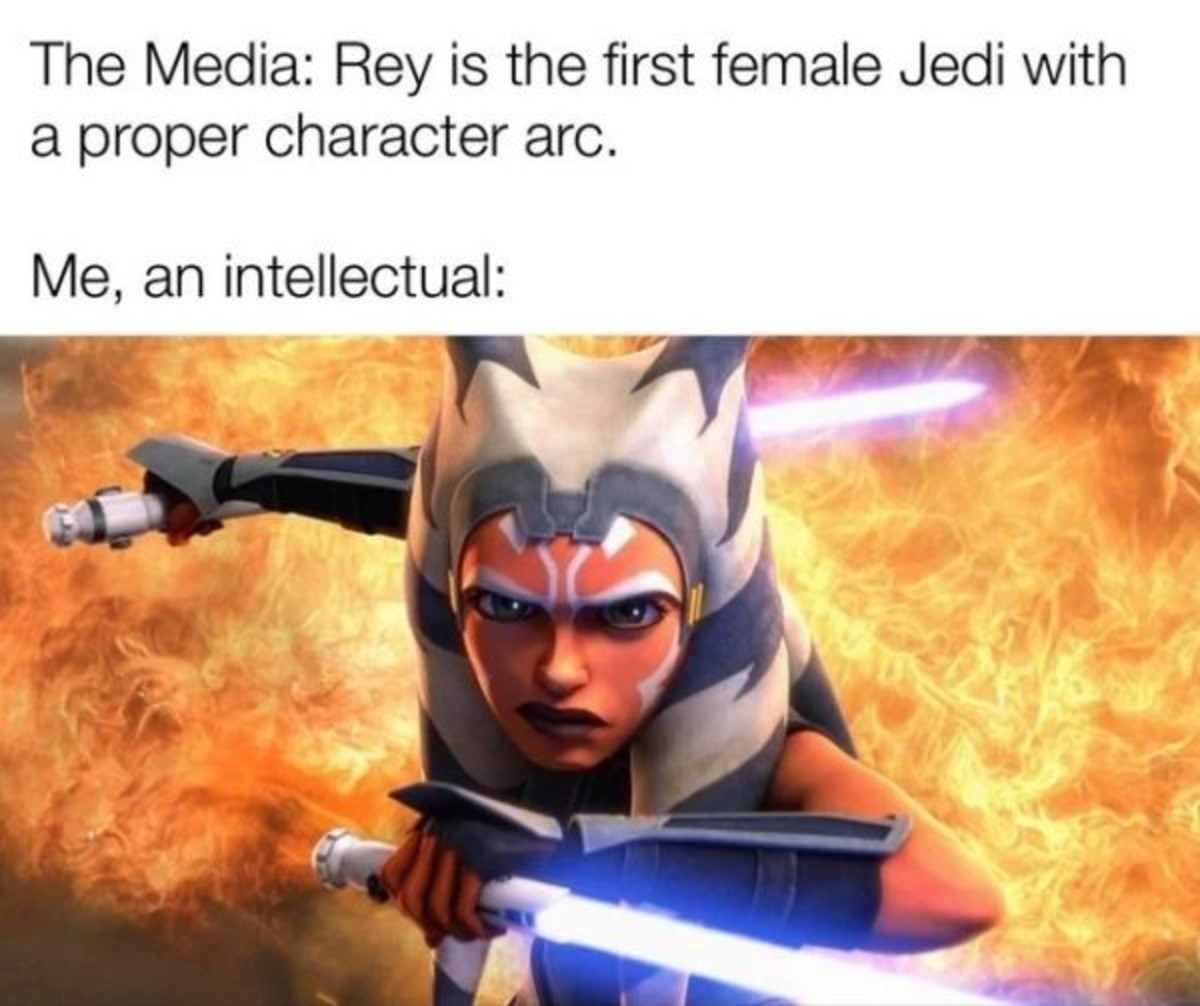 A fine piece of character from a more civilized age. .. But, rey doesnt have a character arc