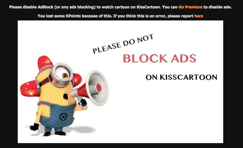 "A minion has never made me this angry. This was absolutely despicable. Please disable . lrl' Th' 1 (or any ads blocking] to watch cartoon on ""' You can to disab"