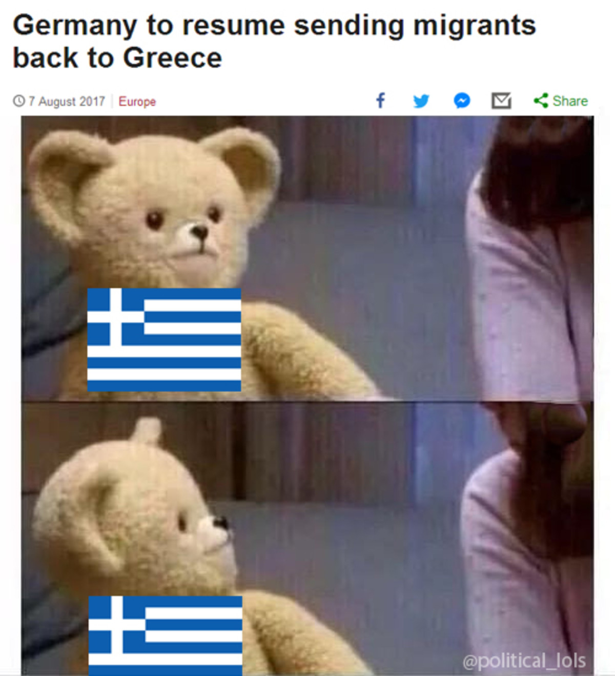 A moment of silence for Greece. http://www.bbc.com/news/world-europe-40850938 .