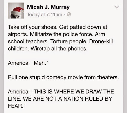 A Nation Ruled by Fear. . Take off your shoes. Get patted down at airports Militarize the pumice force. Arm school teachers. Torture maple. children. Wiretap al