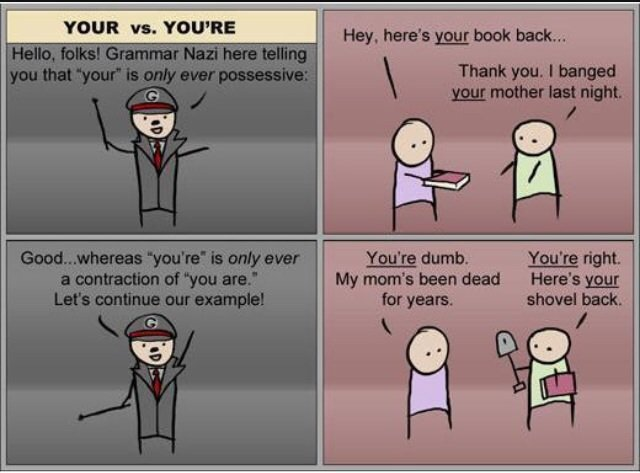 A Title this is. .. Grammar Nazi and necrophilia this comic has it all!