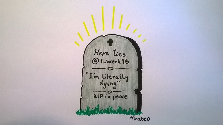 A tombstone from the future. OC.