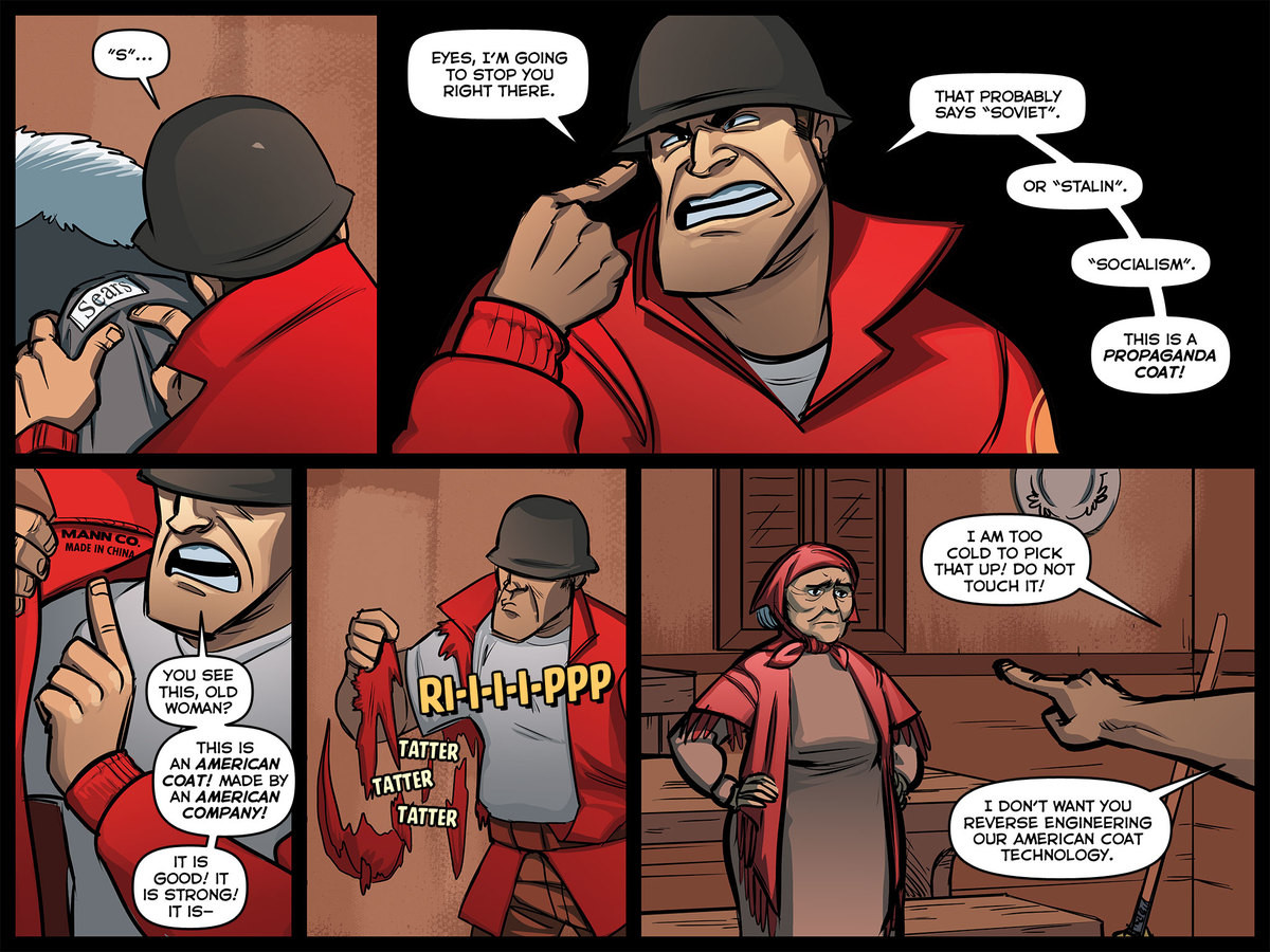 A True American. .. And Now im re-reading all the TF2 comics. Thanks OP