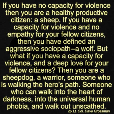 A True Hero. join list: theTRUTH (1639 subs)Mention History. If you have no capacity for violence then you are a healthy productive citizen: a sheep. If you hav