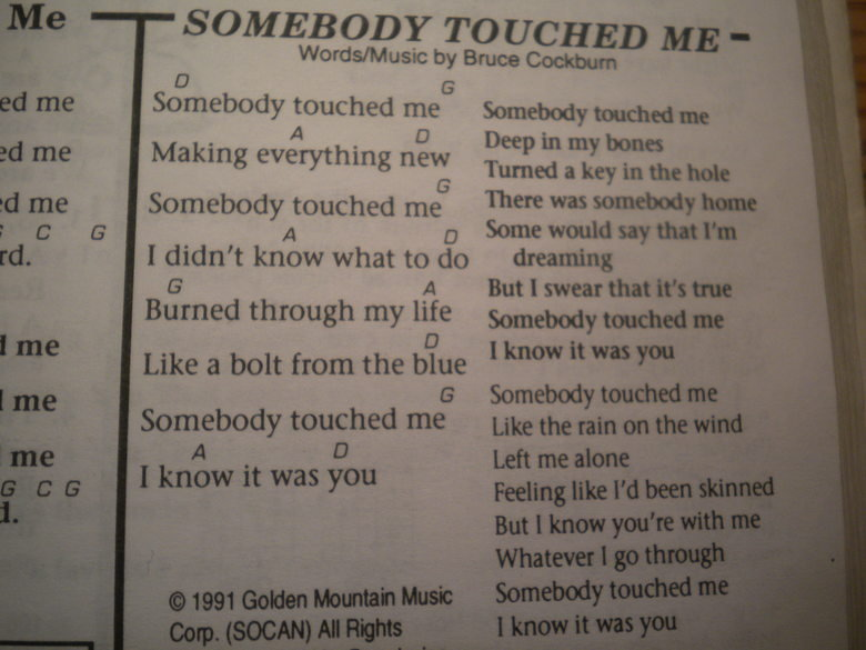 a song?. its in my school's song book.