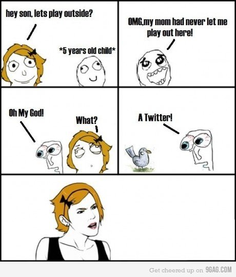 A Twitter. hahaha, Credit to The internet.. outside? what about the kitchen?! sorry, i had to XD