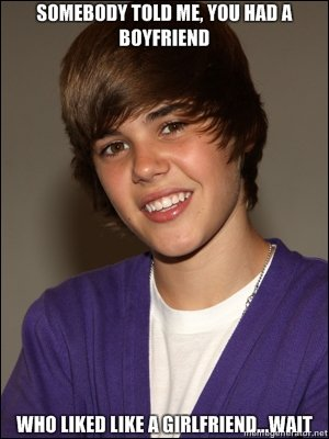 A Justin Bieber Joke. links in the sidebar....wait what. TIM] HIE. 'Hill Hill] ll. im confused?