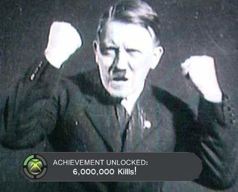 Achievement Unlocked. found it somewhere, dno if this is a repost but i lol'd when i saw it. jie UNLOCKED:. who doesent luv hitler the