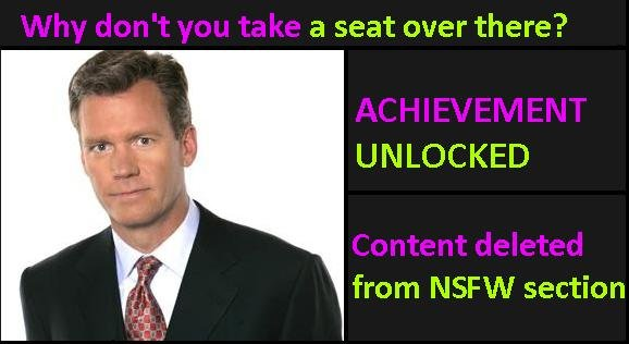 Achievement Idea. . a seat over there? UNLOCKED from NSFW section. Sounds good to me.