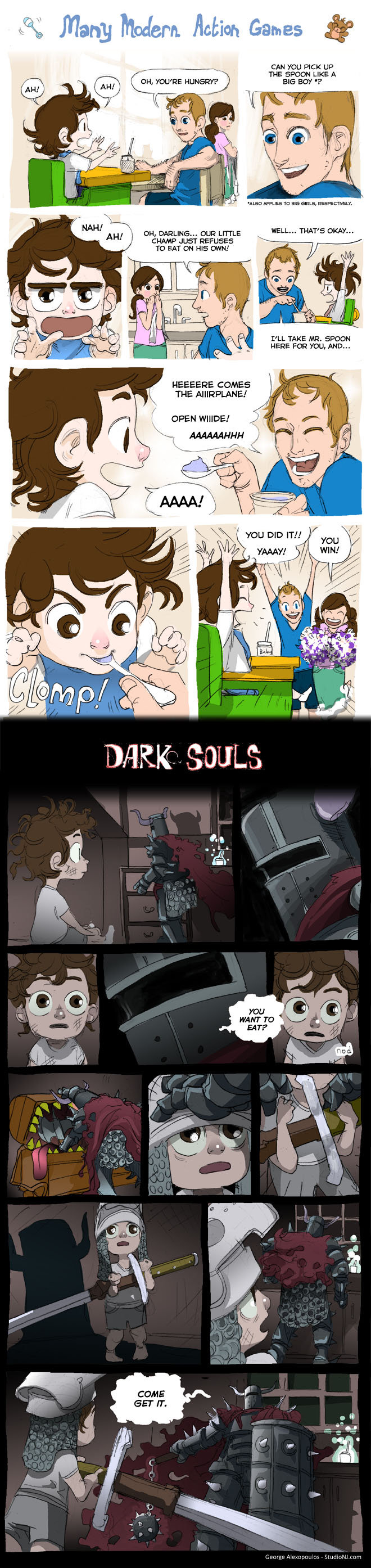 Action games vs Dark souls. tis be tru yo!. many Modern. Ration Gan. [/ l tiill''; CAN -rarety UP THE SPOON LIKE U. CHAMP JUST . TD EAT HIE URN! ELL TAKE ME'. S