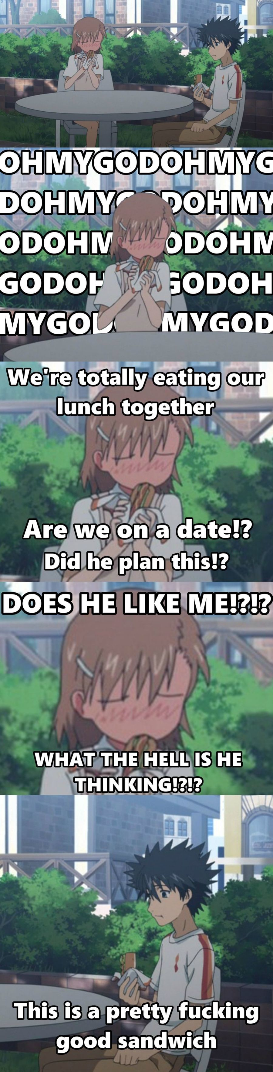 Admin on a date. .. Must be pretty good considering that's a hotdog.