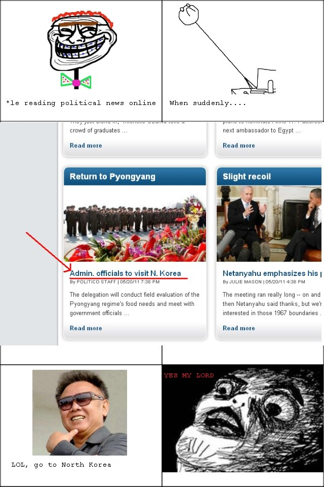 Admin Officials to North Korea. OC. EDIT: Wow, thanks guys! Second page, let's keep this going!. reading political news nolans When suddenly.... Read mete Read