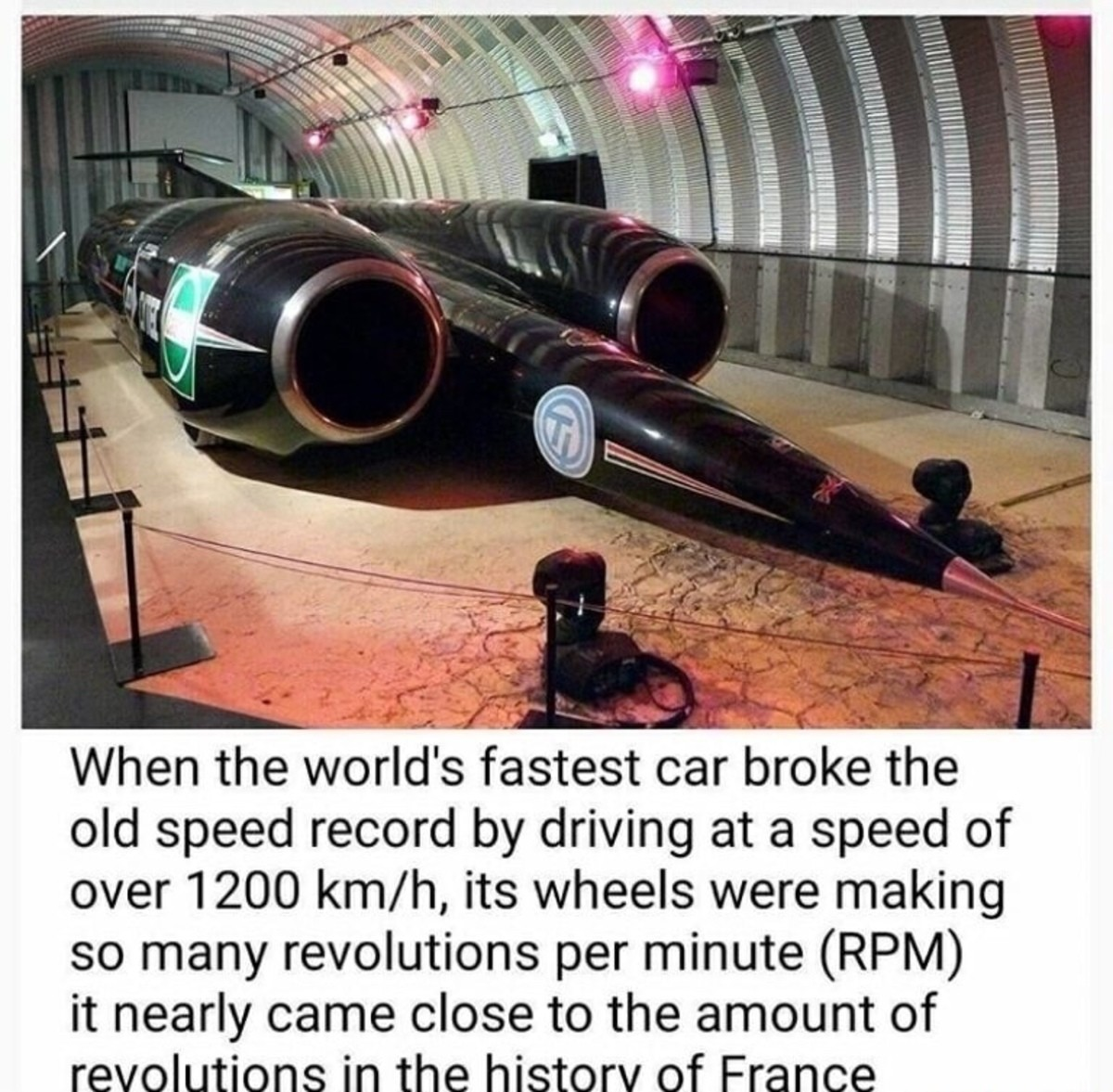 """alcoholic deserted dusty Oyster. .. I really don't think a jet engine powered by rocket fuel strapped to 4 wheels should qualify as a """"car"""""""