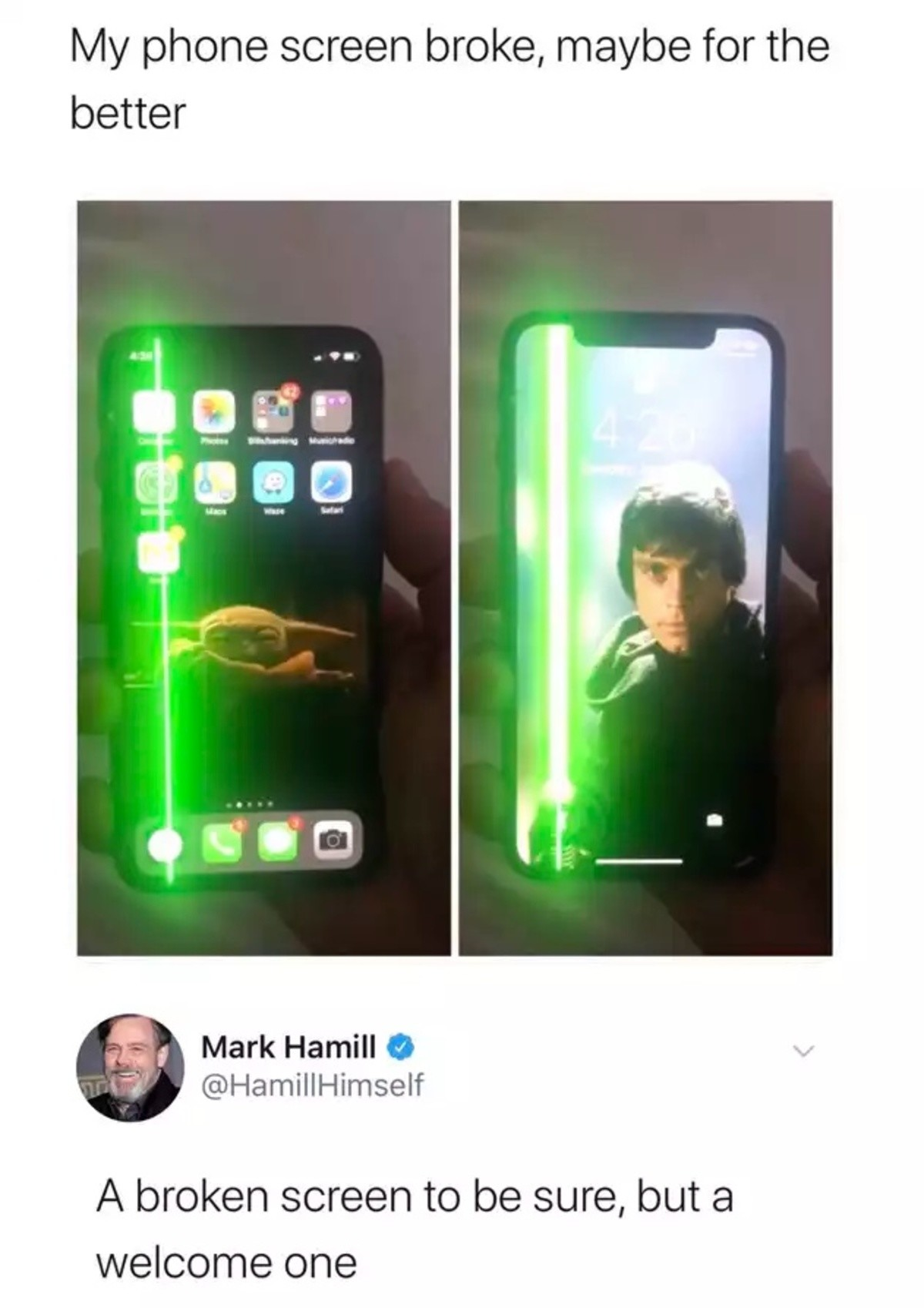 aloof thin Wren. .. Finally some good content from Mark Hamill