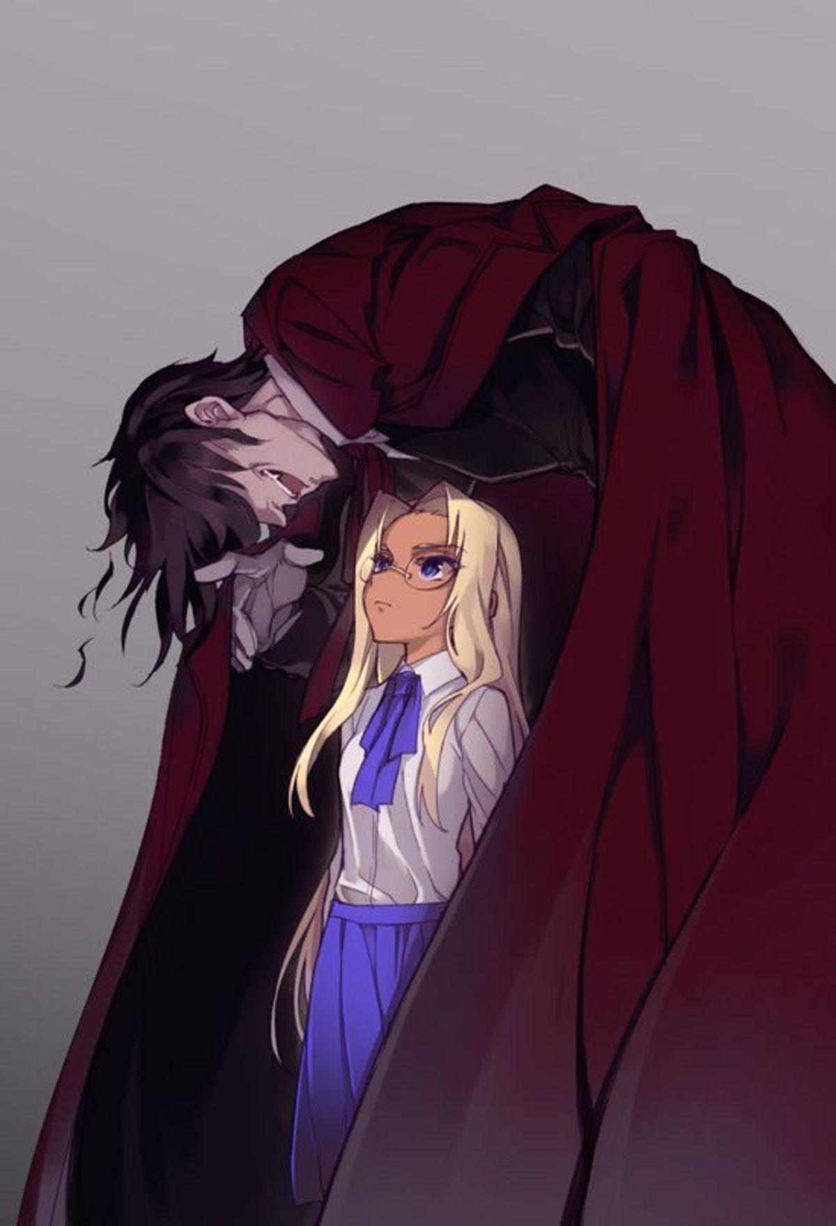 Alucard And Integra. .. ah yes, The Crimson !
