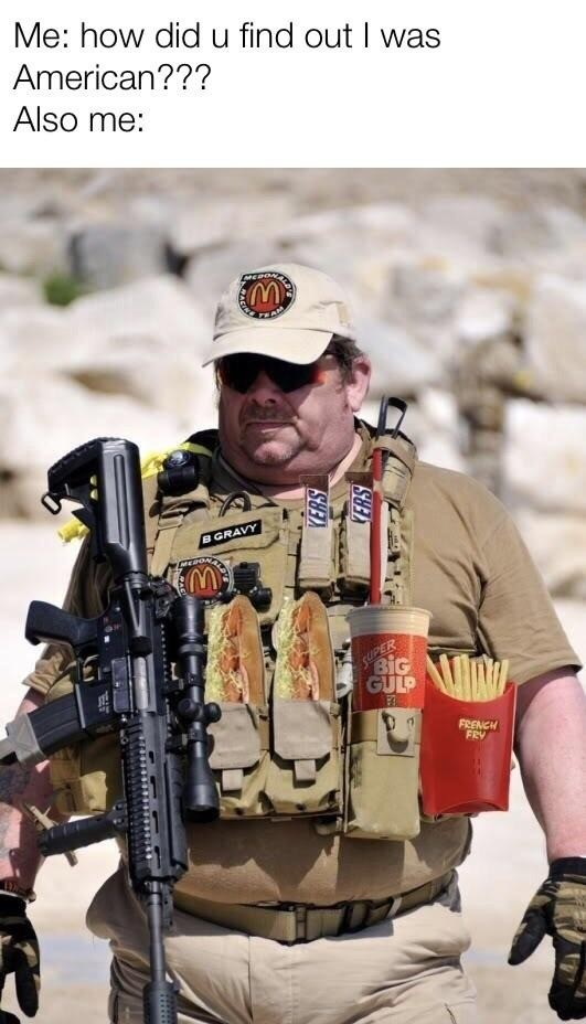 amerika. .. tactical snickers. what a casual. every real operator knows u use a tactical crunch or twix.