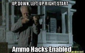 Ammo hack. Not mine.. To be fair there were times when hershel was off screen while Lori was talking on the porch and you couldn't hear shooting, he could have been reloading then. A