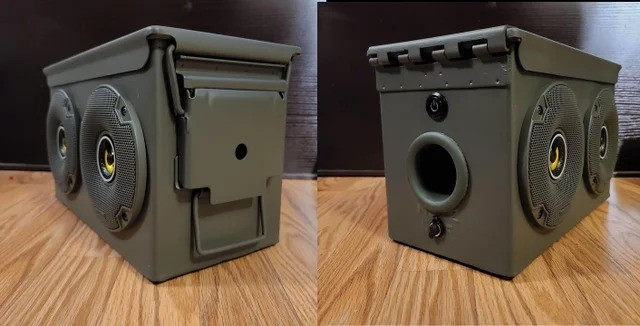 ammo speakers. .. Put... put your dick in it...