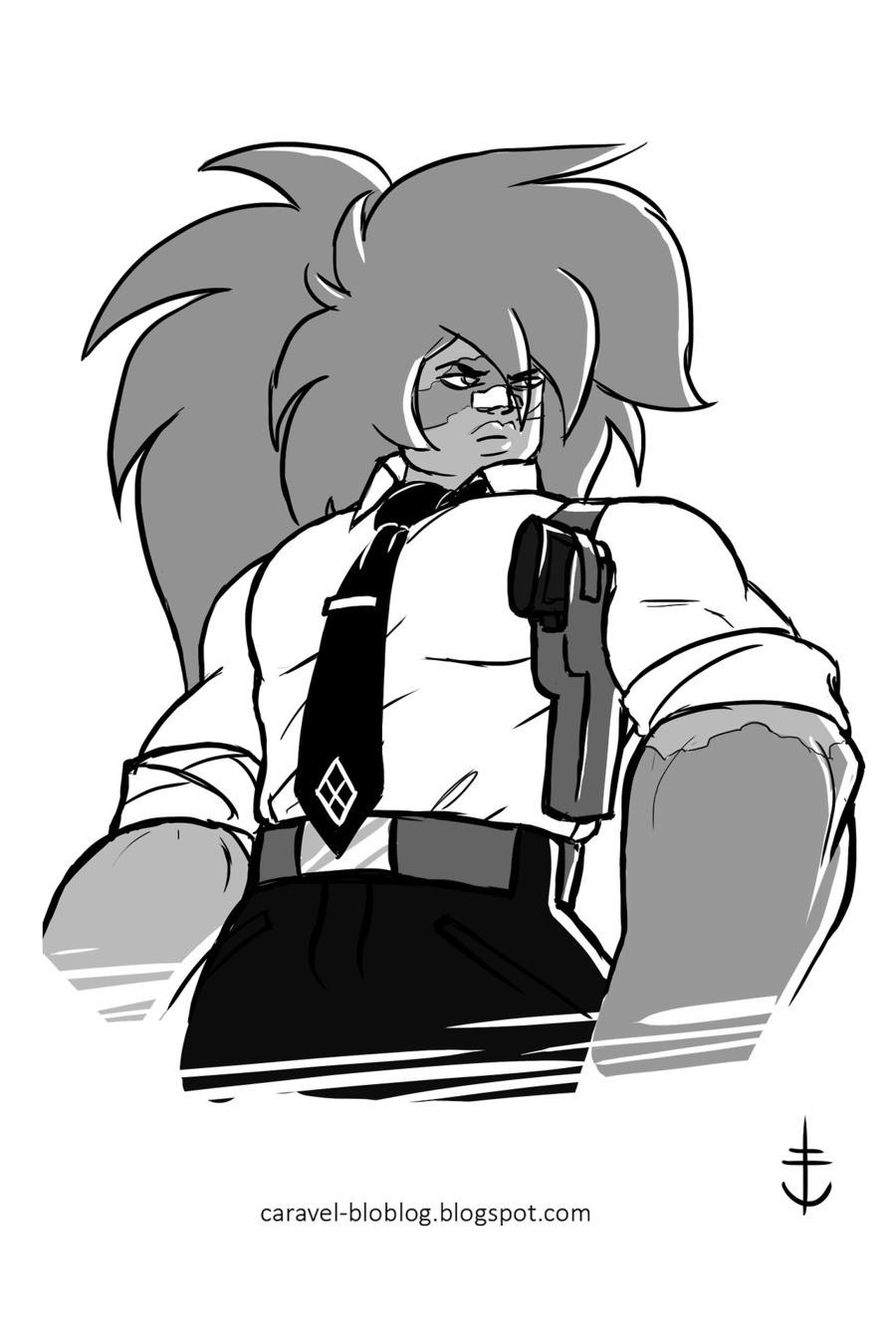 Ancient Bodyguard of Pink D. https://tmblr.co/mXelFST93rJIPeZaEG07lSA Jasper : Would kick anyone's butt anytime. Ancient bodyguard of Pink D, witnessed her murd