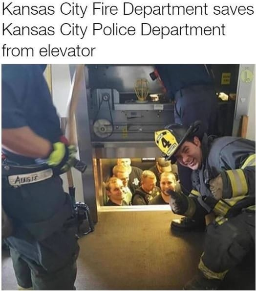 And they never heard the end of it.. .. Those stainless steel elevators always get off easy, cast iron models would be shot.