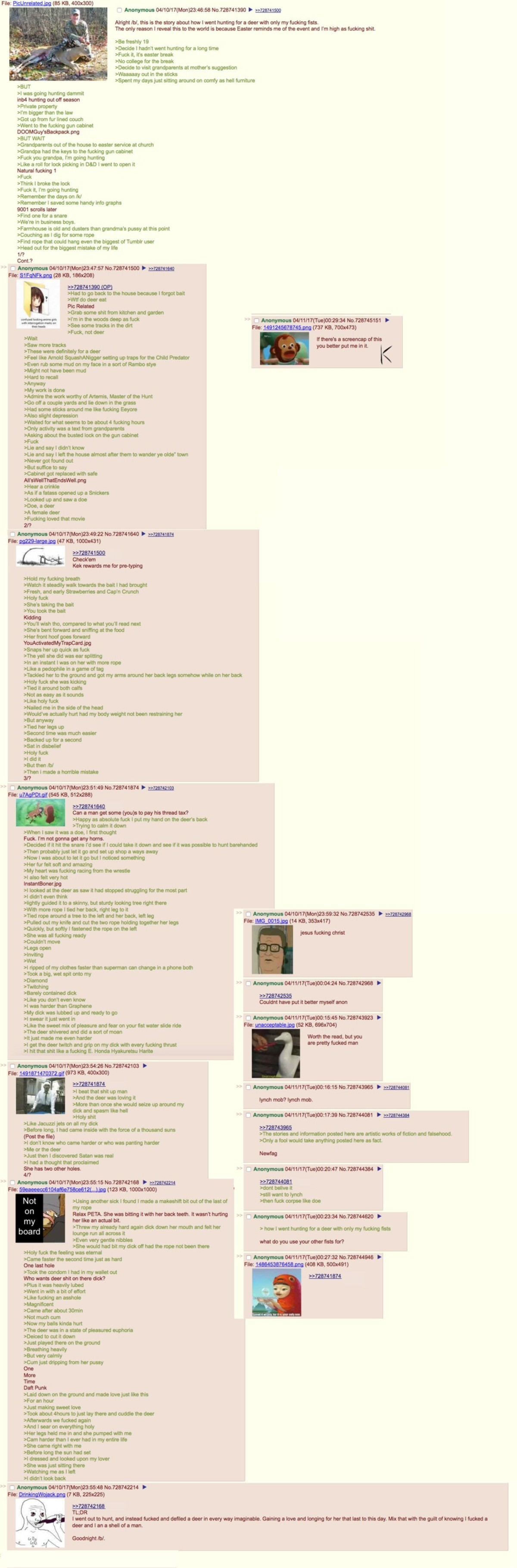 Anon goes hunting. join list: Chanoholic (310 subs)Mention History.. Deer lord.