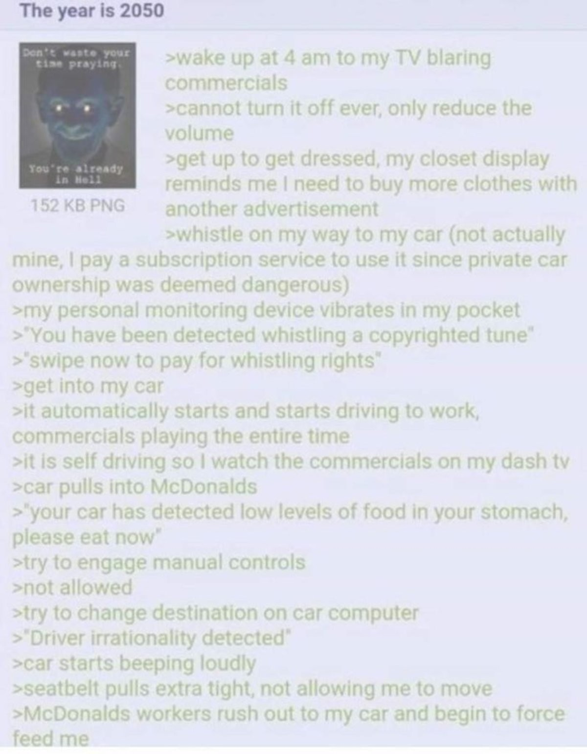 Anon in 2050. .. the world where the reptile took over