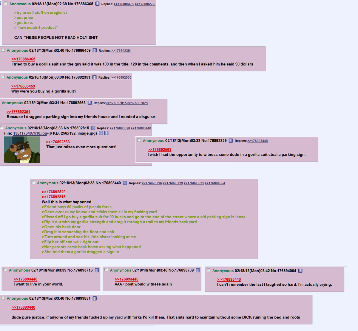 Anon's on cragislist. join list: Chanoholic (310 subs)Mention History.. This is some looney toons lol