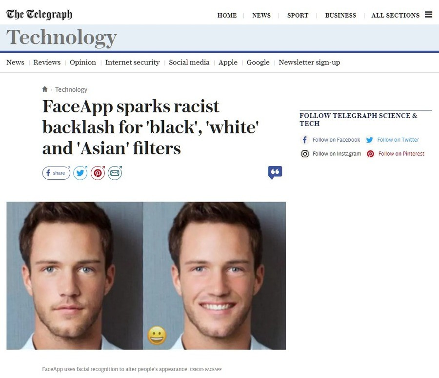 App changes people's race. s outraged.. Faceapp is a free mobile app that can alter the appearance of someone's face in a photograph using neural networks and f