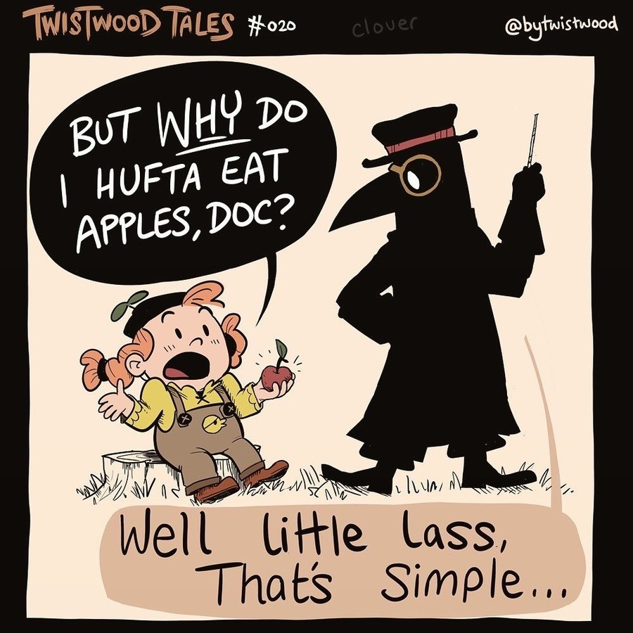 apples. .. he has killed more people than you could possibly imagine, you just didn't see him do it