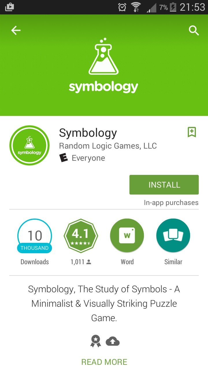 Are you kidding me?. . Symbology [ii) Random Logic Games, LLC E Everyone INSTALL purchases iii) Downloads 1, 011 t Word Similar Symbology, The Study of Symbols