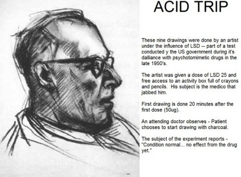Artist on Acid (Actual 1950's Test). 20 Minutes After Taking LSD. 85 Minutes After Taking LSD 2hr 30Mins 2hr 32mins 2hr 35mins 2hr 45mins 4hr 25mins 5hr 45mins.