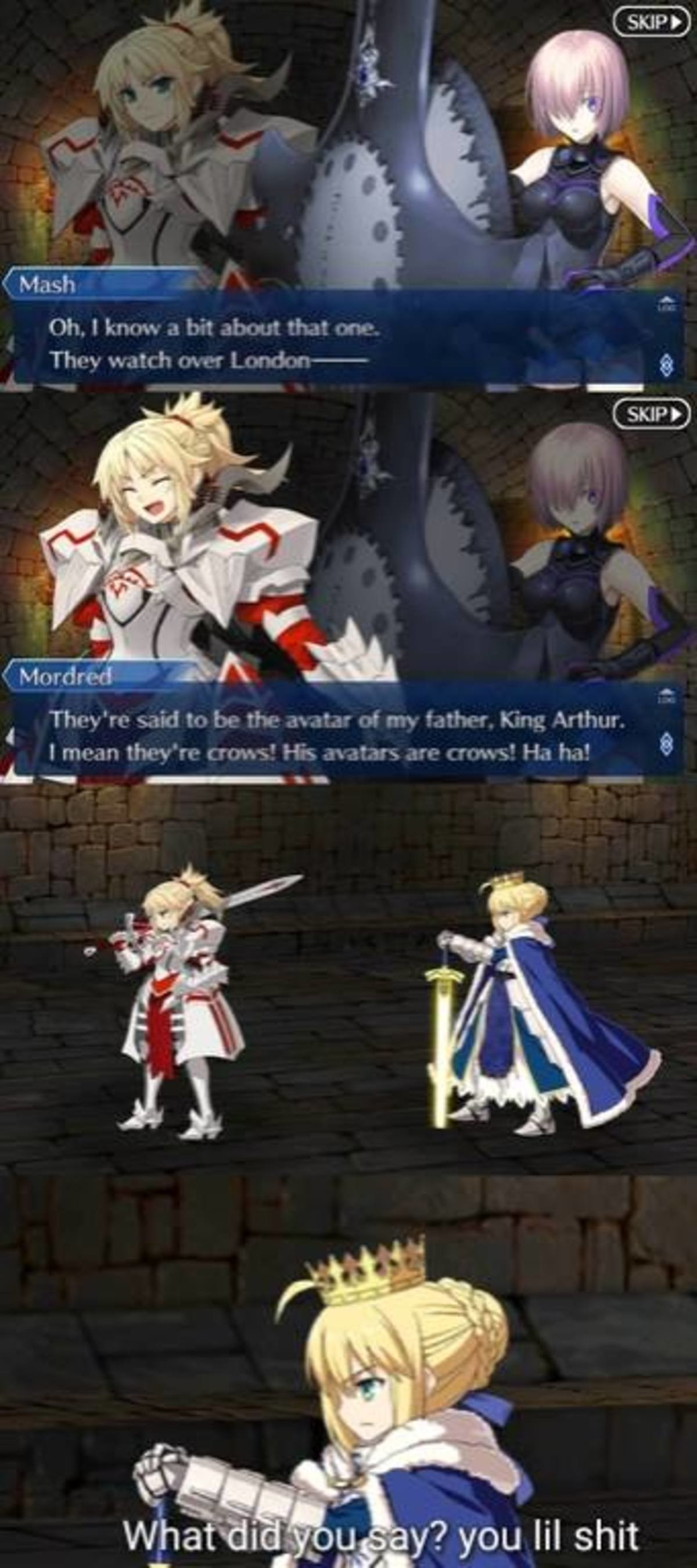 Artoria The Crow. join list: SmolHol (1464 subs)Mention History join list:. my phone gets here on Thursday, then I can finally play this game. So long as I get mai boi Iskandar, the rest of my gatcha luck can be and I'll manage