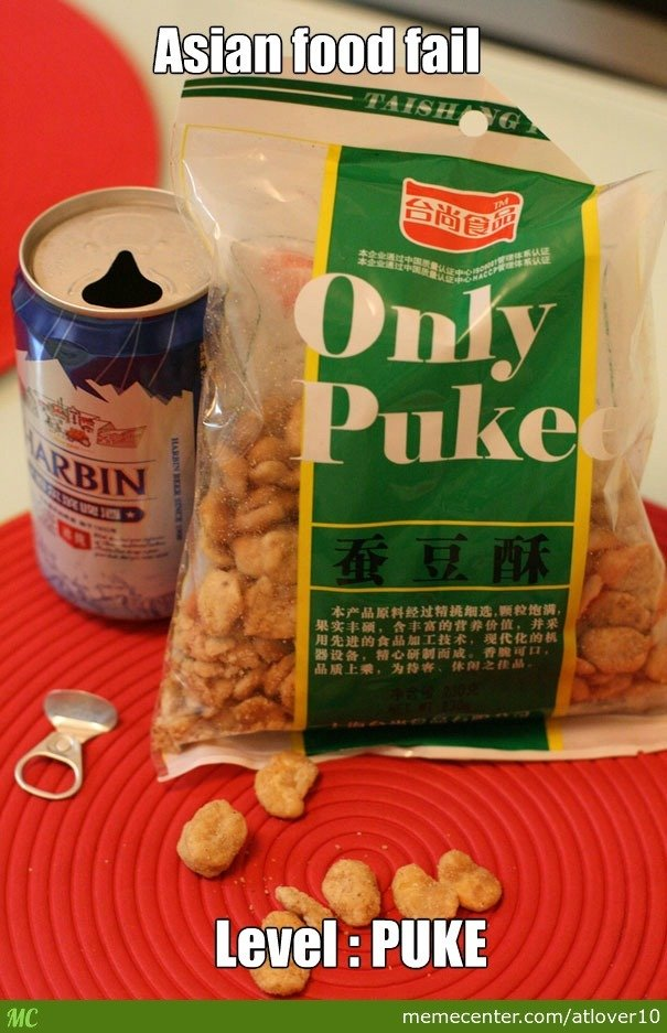 Asian Food Fail. .