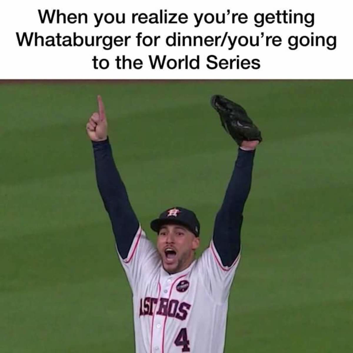 ASTROS TO WORLD SERIES. join list: Texas (166 subs)Mention History.. The meal of champions, with a side of Dr Pepper. The Texas drink celebrates. join list: DrPepperMention History
